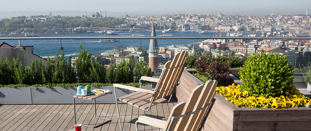 roof garden design hotel. witt istanbul hotel roof garden with topkapi palace and hagia sophia view design
